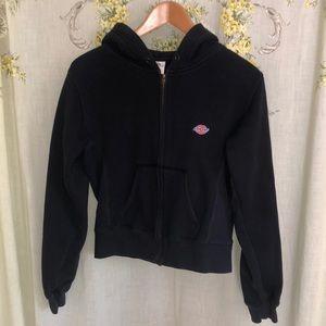 Vintage large black dickies zip up hoodie!